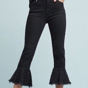 PILCRO black flare studed jeans 27